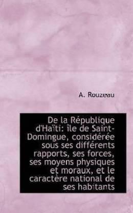 de La Republique D'Haiti