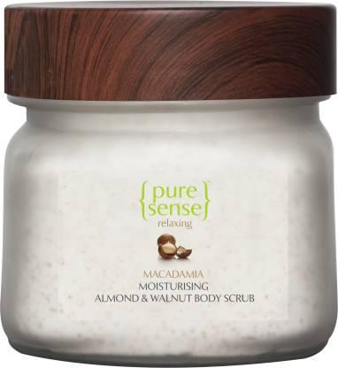 PureSense Moisturising Almond & Walnut Body Scrub- Macadamia & Almond Oil Scrub