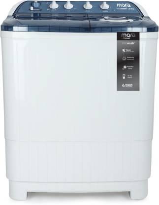 MarQ By Flipkart 8.5 kg Semi Automatic Top Load White, Blue