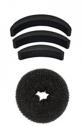 PARAM Combo Of Donut And Puff Hair Accessory Set (Black) Hair Accessory Set