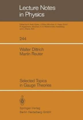 Selected Topics in Gauge Theories