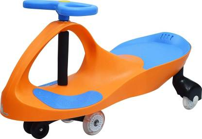 R for Rabbit Iya Iya Swing Car for Kids -Strongest & Smoothest Twister - Magic Car with PU Wheels (Orange Blue) Rideons & Wagons Non Battery Operated Ride On