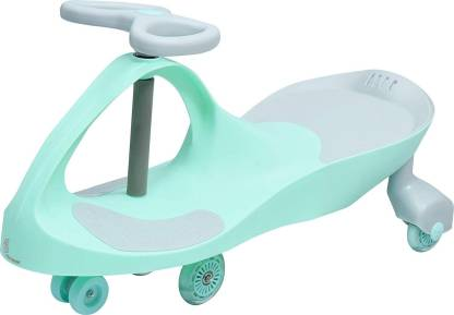 R for Rabbit Grand Swing Car for Kids - Strongest & Smoothest Twister - Magic Car with PU Wheels with LED Lights (Green) Rideons & Wagons Non Battery Operated Ride On