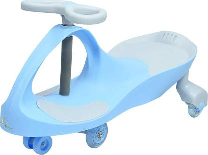 R for Rabbit Iya Iya Grand Swing Car for Kids - Strongest & Smoothest Twister - Magic Car with PU Wheels with LED Lights (Blue) Rideons & Wagons Non Battery Operated Ride On