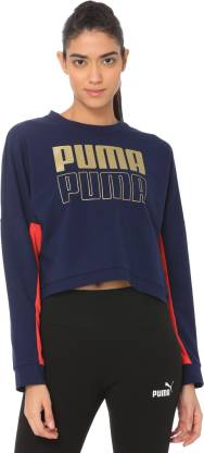 Puma Full Sleeve Color Block Women Sweatshirt
