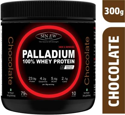 SINEW NUTRITION Palladium Whey Protein with Digestive Enzymes, 300 grm (Chocolate) Whey Protein