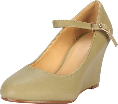 Allen Solly Women Green Wedges