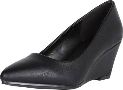 Allen Solly Women Black Wedges