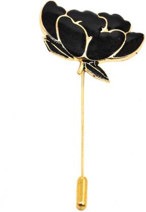 Men Style Men's Lotous Flower Bunch With Gold Lapel Pin Brooch