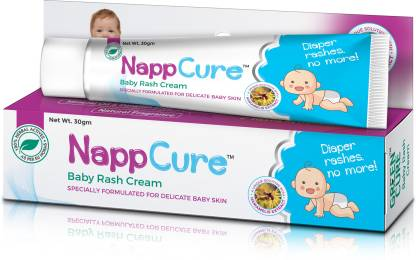 GREEN CURE NappCure - Premium Ayurvedic Herbal Baby Rash Cream   Effective for Diaper Rash and Inflammation   Nourishes and Repairs Sensitive Baby Skin   Immediate Soothing Effect   German Design