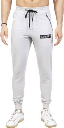 Solid Men Grey Track Pants