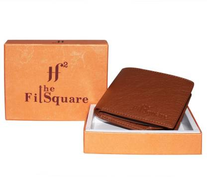 theFitSquare Men Tan Artificial Leather Wallet