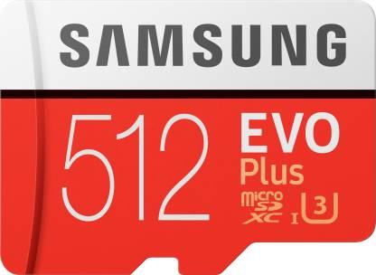 SAMSUNG Evo Plus 512 GB SD Card Class 10 95 MB/s  Memory Card