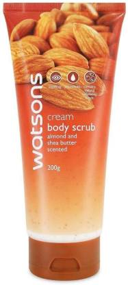 Watsons Cream Body Scrub With Almond And Shea Butter Scented, 200g Scrub