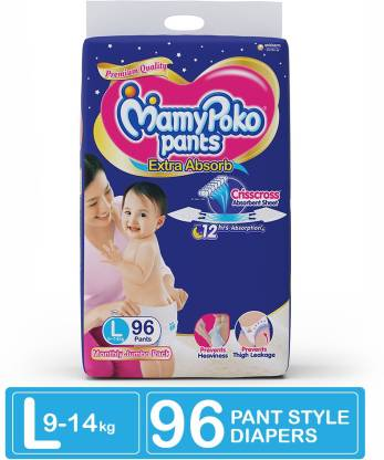 MamyPoko Pants Extra Absorb Diapers - L