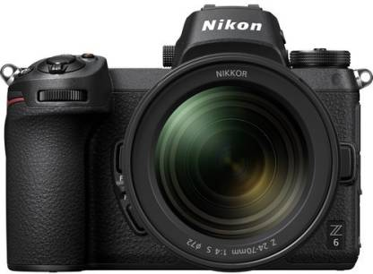 Nikon Z 6 Mirrorless Camera Body + 24 70mm Lens   Black  Nikon DSLR   Mirrorless