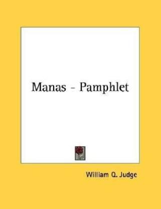 Manas - Pamphlet