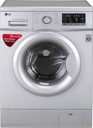 LG 6.5 kg Fully Automatic Front Load with In-built Heater Silver