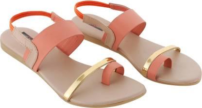 HitClub Women Gold, Pink Flats