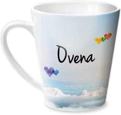 HOT MUGGS Simply Love You Ovena Conical Ceramic Coffee Mug