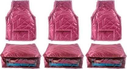 Ajabh High Qulity NEW COMBO OF 3PCS HIGHT SAREE 3p blou COVER GIFT ORGANIZER TRAVLING BAG KEEP SAREE\BLOUSE\SALWAR\JEANS\TOP ETC.