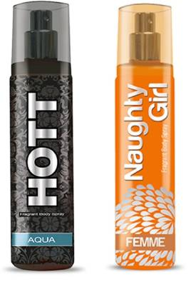HOTT Mens AQUA & FEMME- (Set of 2 Perfume for Couple) (135ml each) Perfume  -  135 ml