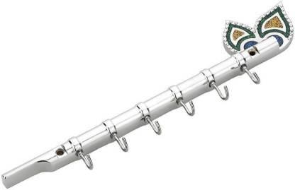 Gkart Flute Key Holder / Key Stand (6 Hooks, Silver) Stainless Steel Key Holder
