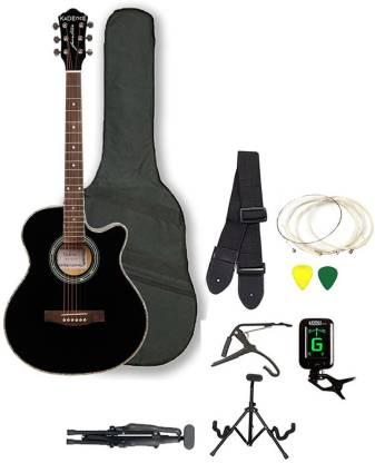 KADENCE KAD-FNTR-BLK-SC Acoustic Guitar Linden Wood Rosewood Right Hand Orientation