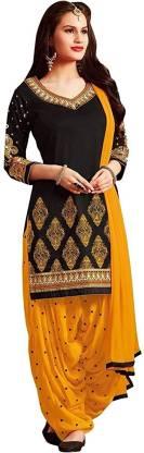 RENSILAFAB Poly Crepe Printed Salwar Suit Material