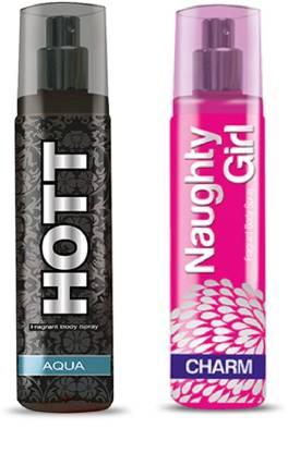 HOTT Mens AQUA & CHROME- (Set of 2 Perfume for Couple) (135ml each) Perfume  -  135 ml
