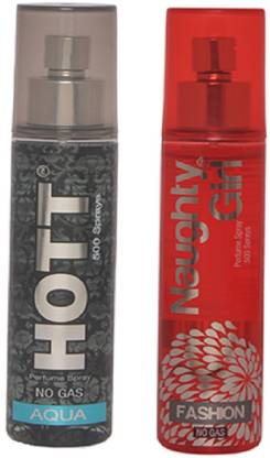 HOTT Mens AQUA & FASHION- (Set of 2 Perfume for Couple) (60ml each) Perfume  -  60 ml