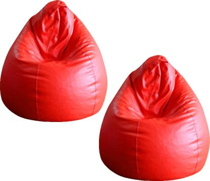 Style Homez XL Standard Bean Bag With Bean Filling  (Red)