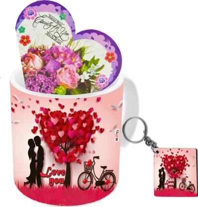 ME&YOU Mug, Keychain, Greeting Card Gift Set