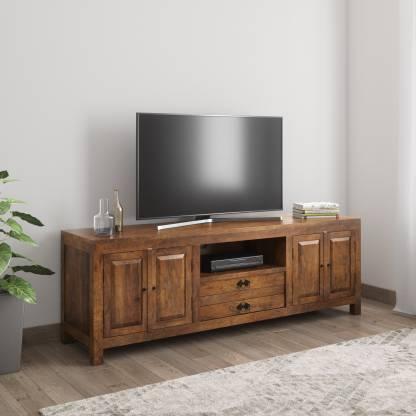 Balaji Wooden Mango Wood Solid Wood TV Entertainment Unit