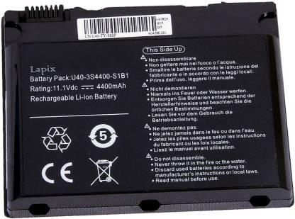 Lapix W pro U40-3S4000-G1B1 6 Cell Laptop Battery