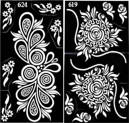 ARR Henna Stencils HS 619 & 624