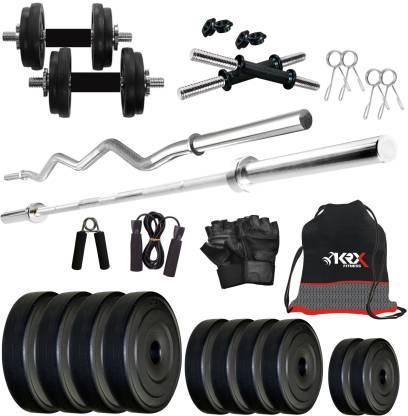 KRX 50 kg PVC 50KG COMBO 2-SL Home Gym Combo