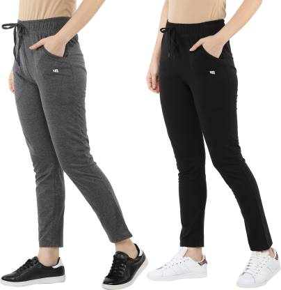 Modeve Solid Women Black, Grey Track Pants