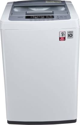 LG 6.2 kg Inverter Fully Automatic Top Load Silver, White  (T7269NDDL)