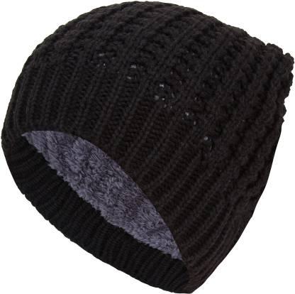 Friendskart Self Design New Men's Women's winter Fall hat fashion knitted black ski hats Thick warm hat cap Bonnet Skullies Beanie Soft Knitted Beanies Cotton01450 Cap