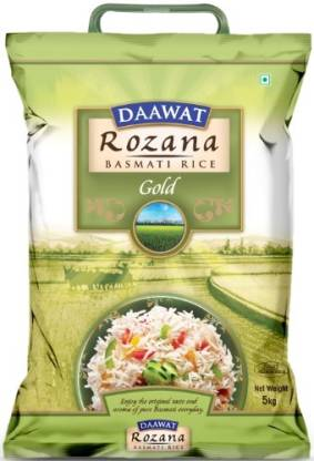 Daawat Rozana Gold Basmati Rice (Medium Grain)  (5 Kg)