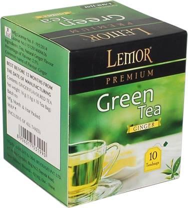 Lemor Premium Ginger Green Tea Box