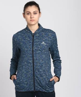 Alcis Full Sleeve Self Design Women Jacket