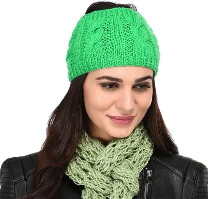 Stylebond Winter Woolen Womens Headband Earwarmer Earmuff Cap