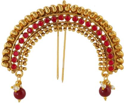 Anuradha Art Traditional hair brooch Hair Accessory Set