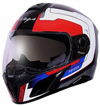 VEGA Ryker D/V Armour Black Red Helmet Motorbike Helmet