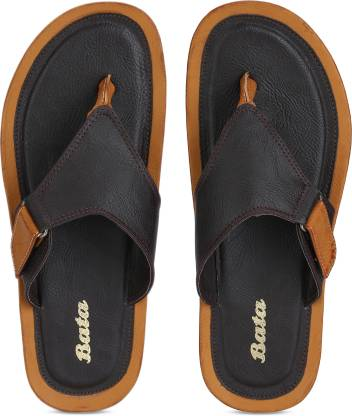 Bata RIPLEY THONG Men Brown, Grey Flats