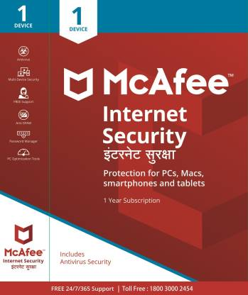McAfee Internet Security 1 PC 1 Year