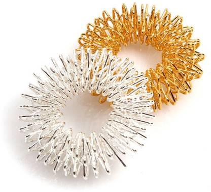 Healthllave Acupressure Finger Ring | Finger Care Massager | 1 Silver |1 Golden