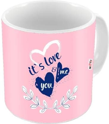 ME&YOU Romantic Gifts, Surprise Printed for Husband Wife Couple Lover Girlfriend Boyfriend Fiancée Fiancé On Valentine's Day, Birthday, Anniversary, Karwa Chauth and any special Occasion IZ19DTLoveMU-122 Ceramic Coffee Mug